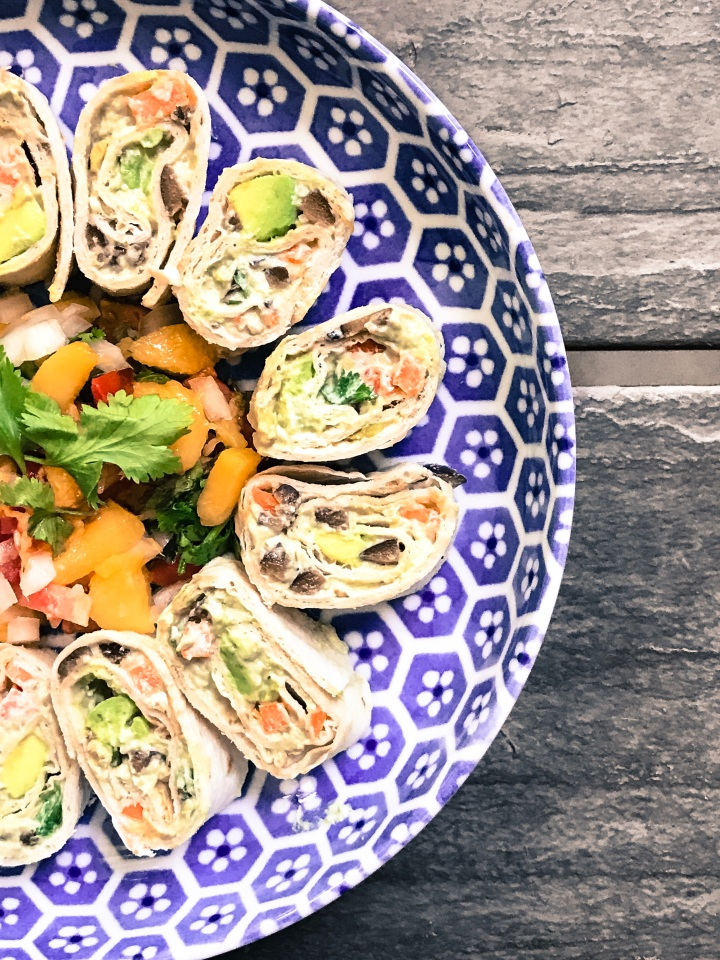 Tortilla Pinwheels with Tropical Pico de Gallo