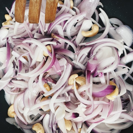 Onions + Cashew Nuts + Oil